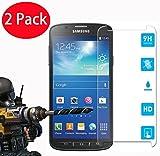 FoneExpert® 2 Pack - Samsung Galaxy S4 Active Panzerglas, Gehärtetem Schutzfolie Glasfolie Hartglas Panzerfolie Displayschutzfolie für Samsung Galaxy S4 Active
