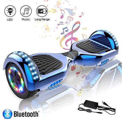 COLORWAY Hoverboard 6.5 Pulgadas con Ruedas de LED, Patinete Eléctrico con Bluetooth de 700W Auto-Equilibrio (Azul)
