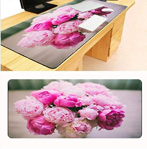 Edition-laptop-tastatur (Mauspad Große Mausunterlage Flowers Control Edition Super große Mausunterlage mit Schreibtischsperre für Desktop und Laptop Computermatte)