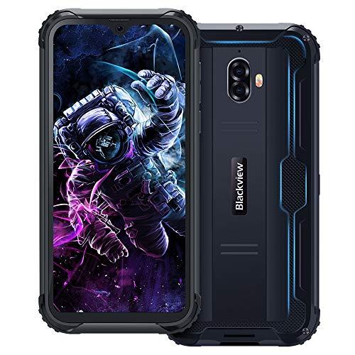 Blackview BV5900 (2019) IP69K Outdoor Smartphone Ohne Vertrag 5,7 Zoll HD+ Waterdrop Display Android 9.0 13MP+5MP Kameras 5580mAh Akku Helio A22 3GB+32GB 4G Robustes Handy- NFC/Fingerabdruck/Face ID