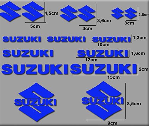 PEGATINAS MOTO RGSX SUZUKI R169 STICKERS AUFKLEBER DECALS AUTOCOLLANTS ADESIVI (AZUL)