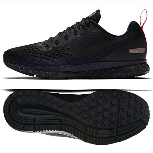 Nike W Air Zoom Pegasus 34 Shield, Scarpe da Fitness Donna, Multicolore Black/Obsidian 001, 39 EU