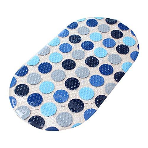 Rutschfeste Badewannenmatte Anti-Rutsch Sticker aus Naturkautschuk verwendbar als Badewanneneinlage und Duschmatte 37*48cm Für Badewanne, Dusche und Bad,Durchsichtige Antirutsch Aufkleber Blau