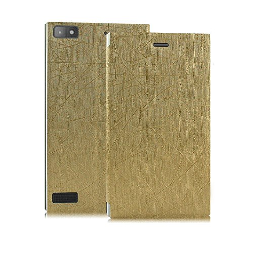 Premium Luxury PU Leather Flip Stand Back Case Cover For Blackberry Z3 - Gold