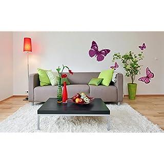 Sticker für Wand – Wandtatoos für Kinderzimmer, Wohnzimmer, Schlafzimmer, Babyzimmer - Wanddeko Modern – 1 X 70x50cm Wandsticker Deko Set Folien Schmetterlinge