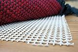 onloom Antirutschmatte, weißer Teppich-Stopp, Rutschhemmende Teppichunterlage in Verschiedenen Größen, Größe:50 x 80 cm