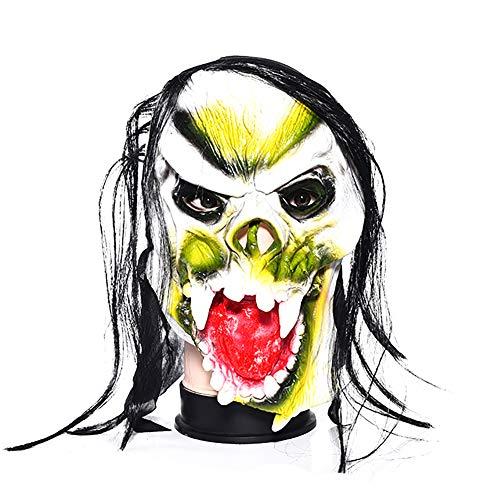 Vikenner Halloween Unheimlich Maske Terrorist Latex Gesichtsmaske Kopf Horror Masken für Party Festival Kostüm Tanzparty Cosplay Gesicht Requisiten Erwachsene