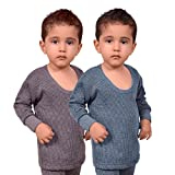 #2: Red Fort Thermal Top Grey and Blue Color for Boys and Girls - Pack of 2