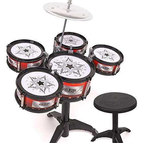Zhongsufei Kleinkinder Lernspielzeug Kinder Drum Drum Kit Perkussionsmusik Toy Boy Frühe Kindheit Pädagogische 3-6 Jahre alt Spaß pädagogisches Spielzeug - Drum Staubsauger