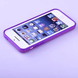 TB1 Products ® Iphone 5C Hybrid TPU PC Bumper Frame Case Cover Silicon Bumper Purple