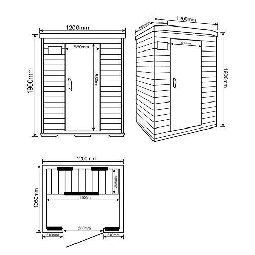Home Deluxe | Infrarotsauna | Redsun M | Keramikstrahler | inkl. vielen Extras und komplettem Zubehör | verschiedene Varianten - 7