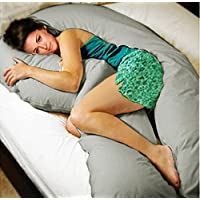 Original Coozly Premium Pregnancy U LYTE Pillow with fine Coozly HQ Fibres & Grey Cover U8 (Wgt-4.5 Kg)