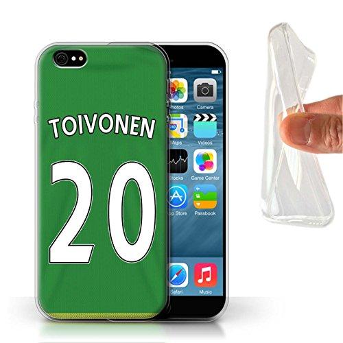 Offiziell Sunderland AFC Hülle / Gel TPU Case für Apple iPhone 6S / Pack 24pcs Muster / SAFC Trikot Away 15/16 Kollektion Toivonen
