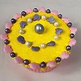 Natürliches Sojawachs, 4-mm-Radmuttern, frei von Gluten-Perlen 70g violett