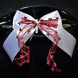 10lazos decorativos hechos a mano para decoración de boda y coche