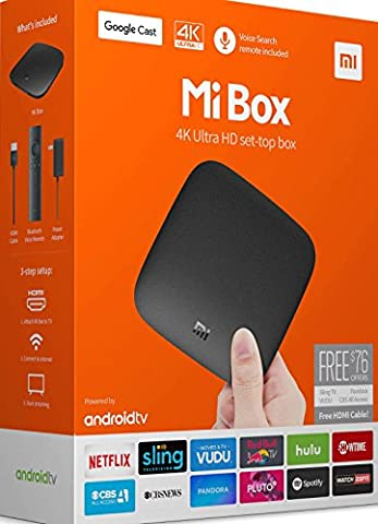 Mi Box Android 6 TV, 4K, HDR, 2Gb RAM, 2.0GHz, Fernbedienung, 60fps (Internationale Version)