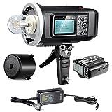 Neewer® 600W GN87 HSS Al Aire Libre Luz De Flash Estroboscópico para Nikon DSLR Cámara,con 2.4G disparador sin hilos & 8700mAh Batería para proporcion