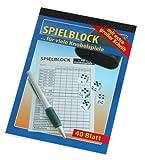 Spielblock für viele Knobelspiele mit extra großer Schrift