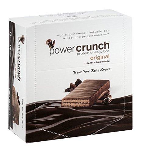 Power Crunch Protein Energy Bar, Triple Chocolate 12 ea, Triple Chocolate, 12 per Box