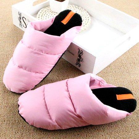 Pantoufles Doghaccd, Hiver Épaississement Plume Pantoufles De Coton Léger Couples Restent Chaudes Anti-dérapant Chaussures Fond Mou Chaussures En Coton Pink2