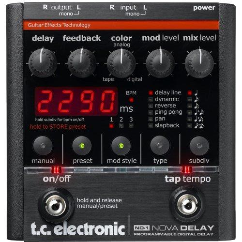 TC Electronic ND-1 NOVA DELAY - Pedal de delay, 9 presets