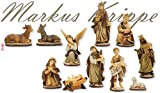 Krippenfiguren Markuskrippe gebeizt 11-tlg. Set geeignet für 9cm Figuren