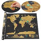 Luxus Scratch Map Weltkarte Zum Rubbeln Schöne Erinnerung an Bisherige Reisen Für Jeden Globetrotter Geschenkrolle Scratch off World Map ( 82 x 60 cm Schwarz)