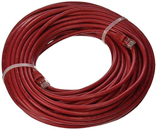Cat5RD-75 Cat5E Ethernet Netzwerk-Patchkabel mit angespritzter Knickschutztülle, 2,9 m, Rot -