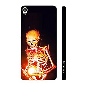 Enthopia Designer Hardshell Case Magic by Skeleton on Fire Back Cover for Sony Xperia XA Ultra