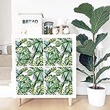 QL&HEY Wallpaper Adesivo per Foglie di Banana, Autoadesivo - ristrutturazione di armadi di stoccaggio - Decorazioni per la casa Impermeabili (Dimensioni : 33 * 33cm*4pcs)
