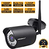 1080P Wireless WiFi Security Camera Outdoor - GENBOLT Waterproof IP Surveillance Camera System, 50ft Night Vision, Customizable Motion Detection