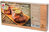 "Masterpiece ""select"" - Aroma Grillbretter aus Eschenholz, 15 mm stark, Grillplanke Premium Qualität, Set á 2 Stk, Maße: 145 x 295 mm, BBQ Räucherbretter aus Esche"
