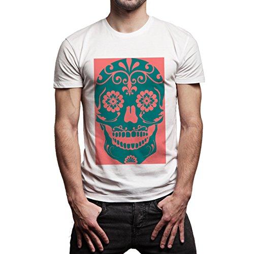 Skull Art Hypster Background Herren T-Shirt Weiß