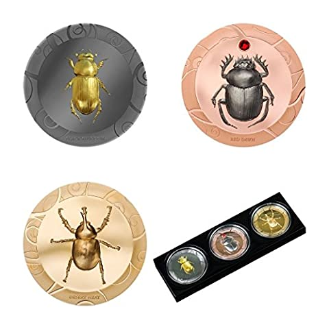 Sélection de scarabée $ 5 Ensemble de pièces d'argent de