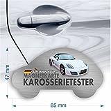 Lacktester Magnet, Magnetkarte, Spachtelprüfer für Karosserie Test, Auto Lack Tester und Spachtelfinder im Brieftaschenformat 85mm x 47mm