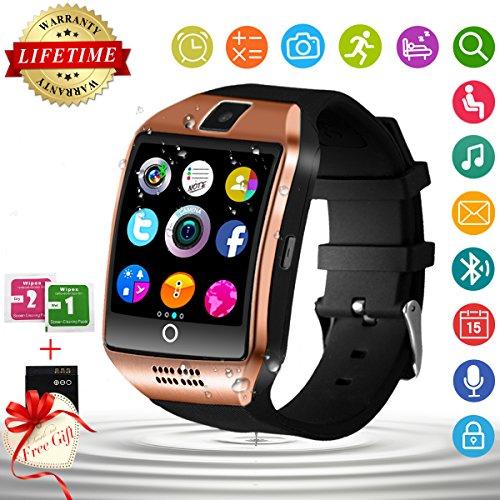 fotos oficiales 828a4 db47c Smart Watch, Impermeable Reloj Inteligente con Cámara Whatsapp Bluetooth  Smartwatch Táctil Teléfono Reloj Sport Fitness Tracker Pulsera Inteligente  ...