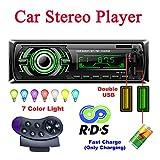 Bosszi Car Stereo, 4x60W Autoradio Bluetooth 1 Din Radio FM, Ricevitore Vivavoce Bluetooth Auto Lettore MP3 con Controllo Del Volante, Supporta RDS / AUX / USB / SD