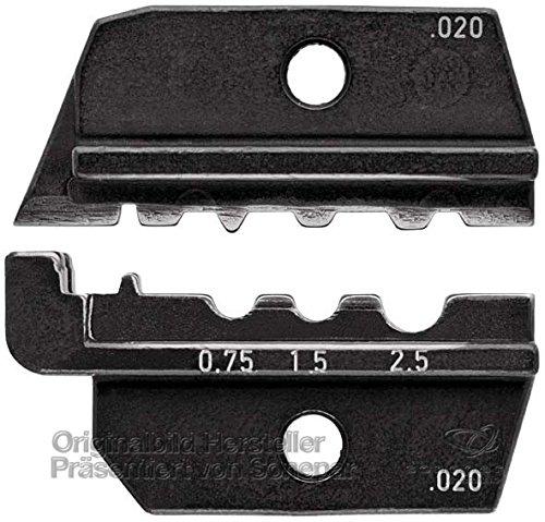 Knipex 97 49 10 Profil de sertissage tubulaires et cosses de câble 46237 Ainsi Que prolongatuers et connecteurs sertis Non isolés Selon DIN 46341, Noir