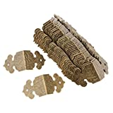 B Baosity 30 Stück Vintage Schmuck Holzbox Eckenschützer für Kisten Schatulle Truhe Ecken Verzierung Ornament