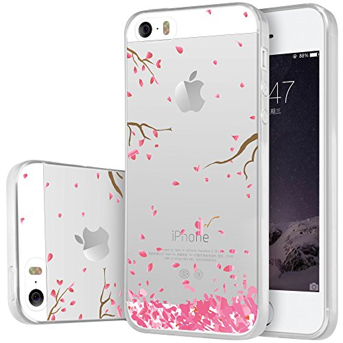 iPhone SE Hülle , iPhone 5 Hülle , iPhone 5s Hülle , iPhone SE 5 5s Silikon Hülle , ivencase Transparent Handyhülle Schutzhülle TPU Clear Case Backcover Bumper Slimcase Etui Tasche für Apple iPhone 5  ag91