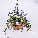 Composition florale artificielle à suspendre, violet, 40 cm, Ø 40 cm - Fleurs artificielles / Plante artificielle fleurie - artplants