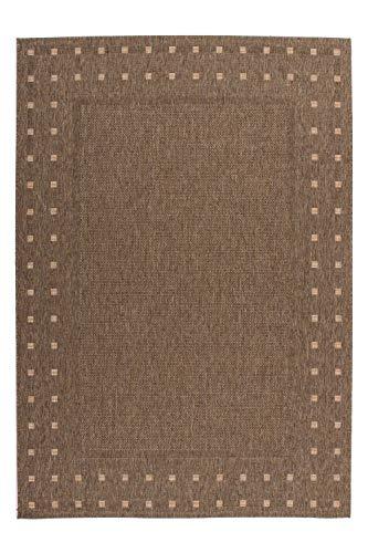 One Couture Flachflor Sisal Teppich Modern Flecht Look Jute Rücken Natural Mais, Größe:120cm x 170cm - Jute Sisal-teppich
