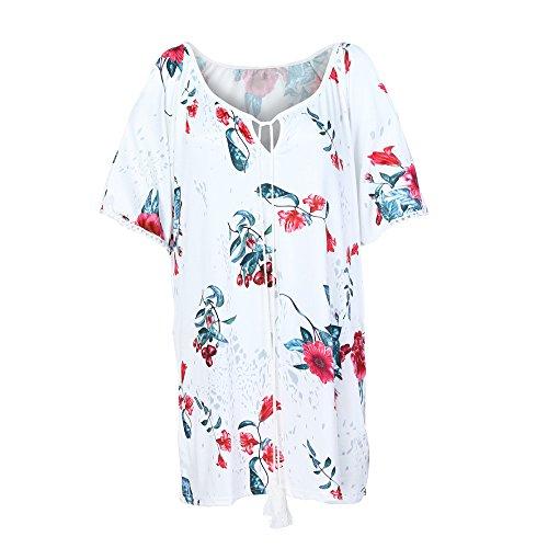 Yvelands weihnachtsgrüße Geburtstag Damen Longshirt Damen Damen Bluse Maxikleider Damen Chiffon blusen Crop Tops