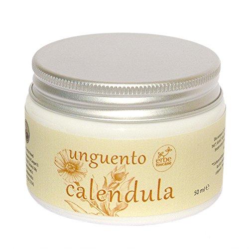 Calendula-ringelblume Salbe (BIO RINGELBLUMENSALBE - Für Lippen und trockene Haut - reines Natur-Konzentrat - Handgefertigt in Italien (50 ML))