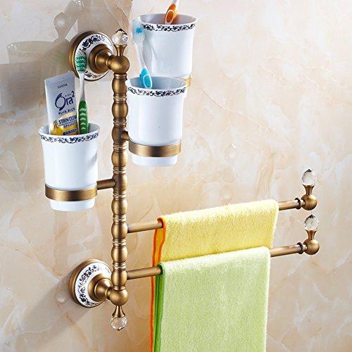 serviette de style européen /Porte-serviette en laiton massif/[Porte-serviettes]/ Antique porte-serviette activités rotatif / Verre de brosse à dents porte-serviettes -H