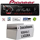 Renault Laguna 1 & 2 - Autoradio Radio Pioneer MVH-S100UI - | MP3 | USB | Android | iPhone Einbauzubehör - Einbauset
