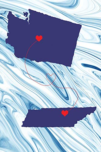 Long Distance Out of State Journal: Washington & Tennessee (Two Souls One Heart US States Diary Notebook, Band 630) -