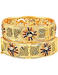 Zeneme Ethnic & Exquisite Designer Gold Plated Copper Jewellery Bangle For Women And Girls…