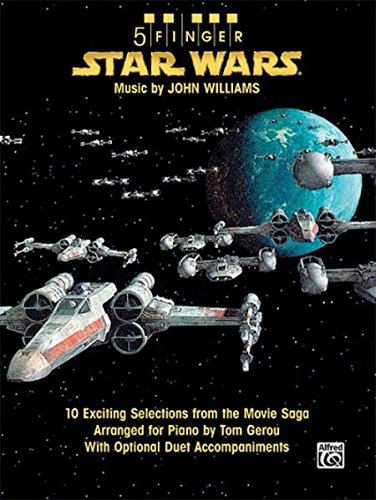 Alfred Publishing 5 Finger Star Wars: 10 Exciting Selections from the Movie Saga Arranged for Piano with Optional Duet Accompaniments