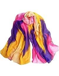 FAMILIZO Moda Mujer tinta china estilo bufanda bufandas chal de gasa abrigo de dama